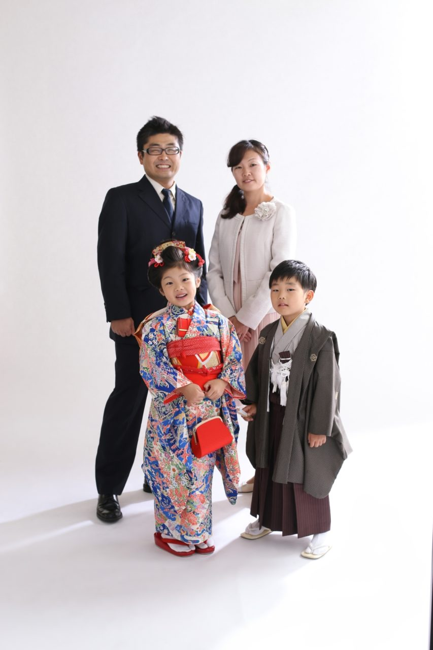 七五三 家族写真 スーツ