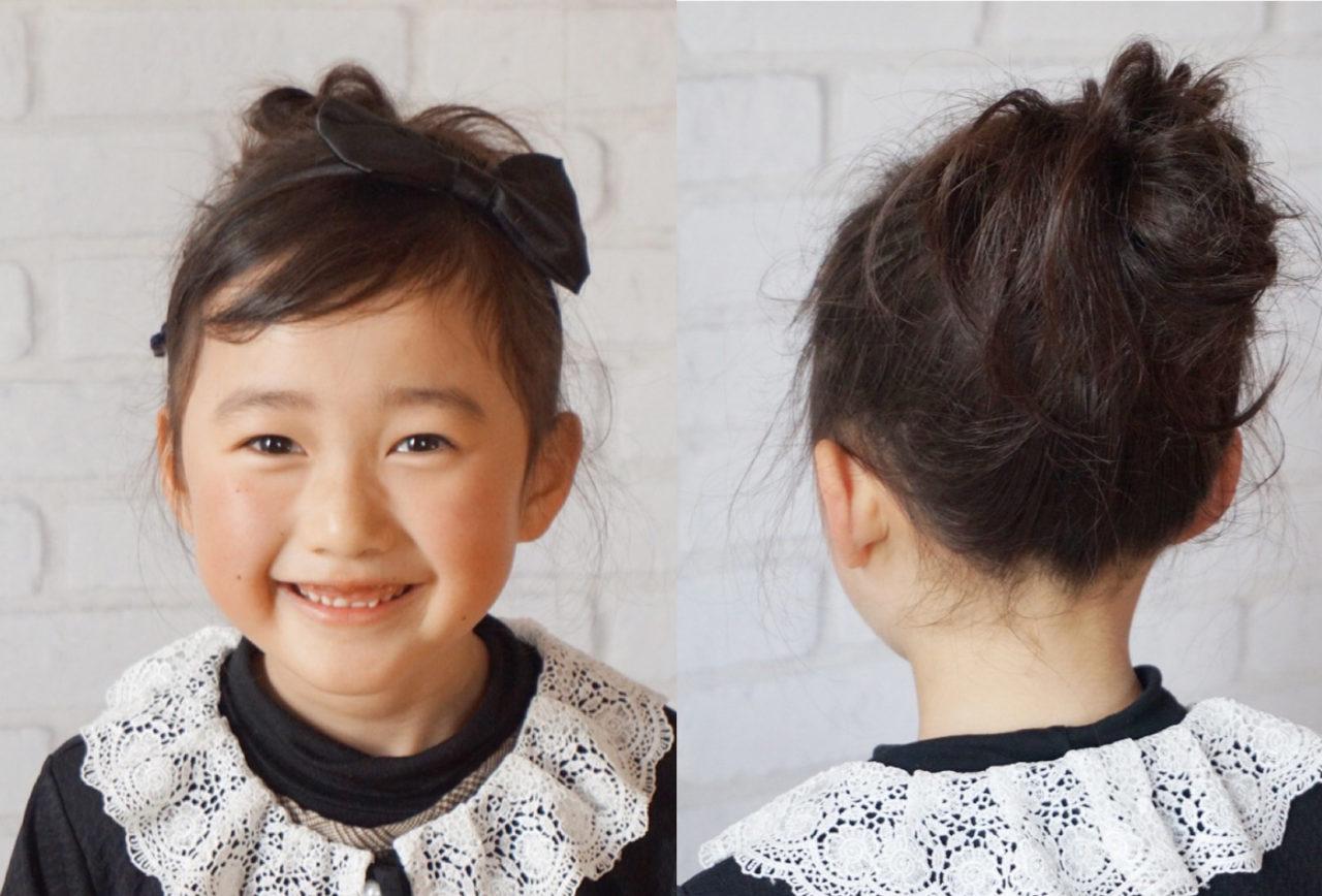 式 髪型 園 卒