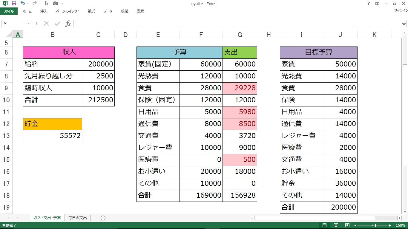 家計 簿 フォーマット 人気