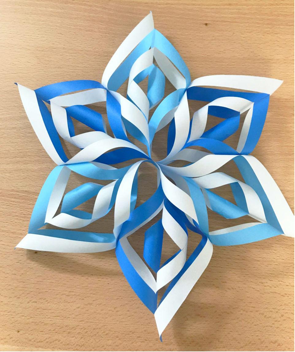 インパクト大!折り紙で作る「雪の結晶オーナメント」簡単