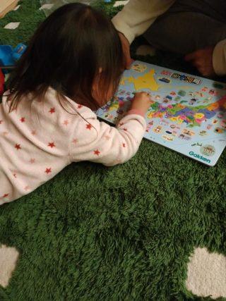2歳2カ月女児に日本地図パズルをやらせてみた!