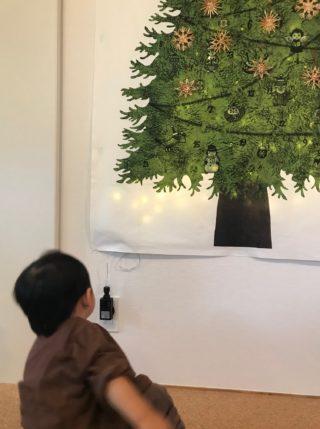 クリスマスツリーのタペストリーで可愛くお洒落なクリスマスを