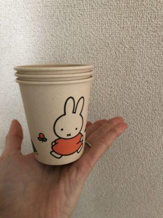 【ダイソー】ミッフィーの紙コップでアレをかわいくオシャレに収納!