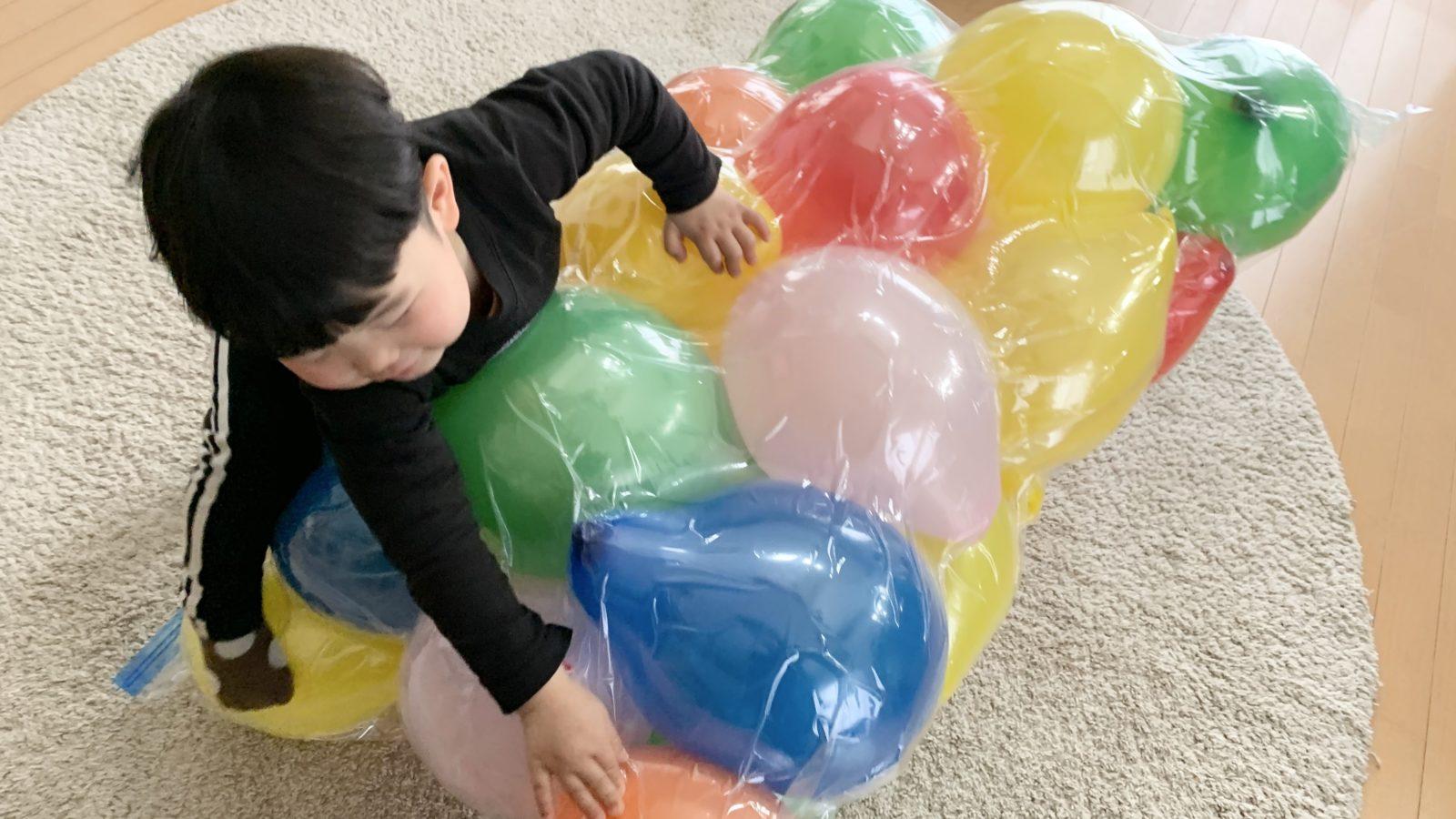 トランポリン 風船 SNSで話題の「風船トランポリン」子どもが大喜び!室内遊びにおすすめです