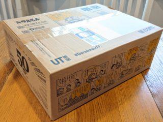 ユニクロオンラインで注文したら、かわいいドラえもんBOXで届いた!