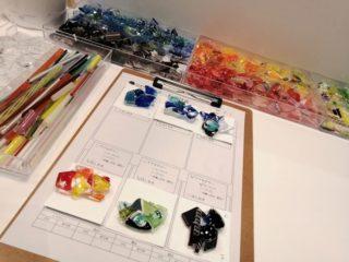 ガラス体験でアクセサリーと箸置きを作って義父母にプレゼント