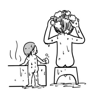 産後の戻らない私のお腹を見た娘に言われた…邪気ゼロのひと言
