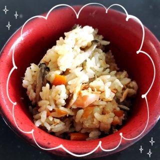 簡単!時短!栄養満点おかず飯!鮭のバター醤油炊き込みご飯