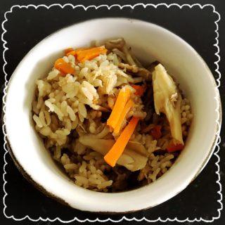 簡単!時短!栄養満点おかず飯!ツナ缶でポン酢炊き込みご飯