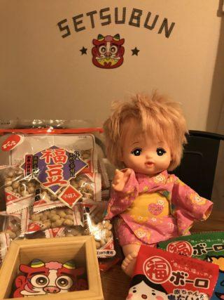 かわいいメルちゃん鬼に福ボーロ?0歳3歳とわが家流節分の楽しみ方
