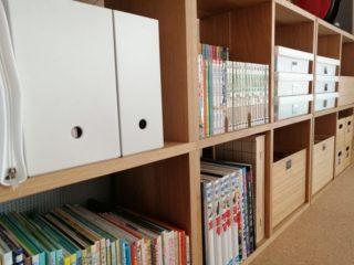 セリアのブックスタンドで漫画や文庫本のカラーボックス収納を2倍に!