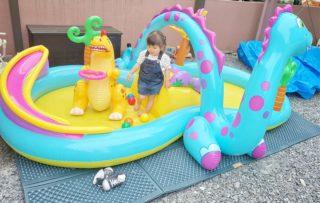 今から遊べる!子どもが夢中になれる大型おうちプールがたのし~い