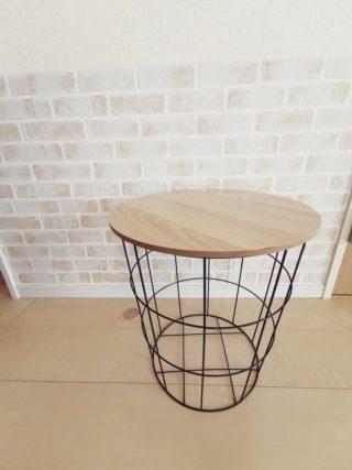 ラスイチでした!ダイソー500円商品の高見えサイドテーブル